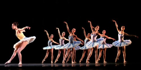 Members of Miami City Ballet at the Adrienne Arsht Center in Miami in January 2010 By Daniel J. Wakin
