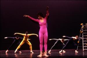 Cargo X, 1989 World première: University of Texas, Austin MerceCunningham: Choreography Takehisa Kosugi Music: Dove Bradshaw: Design, Costumes and Lighting