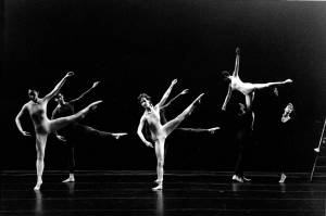 Merce Cunningham Dance Company in Cargo X, photo by Jed Downhill (1989)