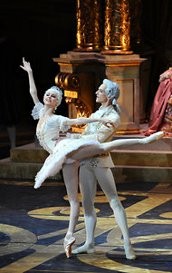 "David Hallberg with Svetlana Zakharova during rehearsal for ""Sleeping Beauty."" James Hill for the New York Times"
