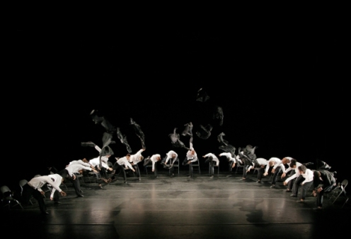 Alvin Ailey American Dance Theater in Ohad Naharin's Minus 16. Photo by Paul Kolnik