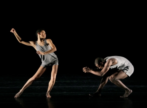 Alvin Ailey American Dance Theater's Ghrai DeVore and Kiven J. Boyd in Ohad Naharin s Minus 16. Photo by Paul Kolnik
