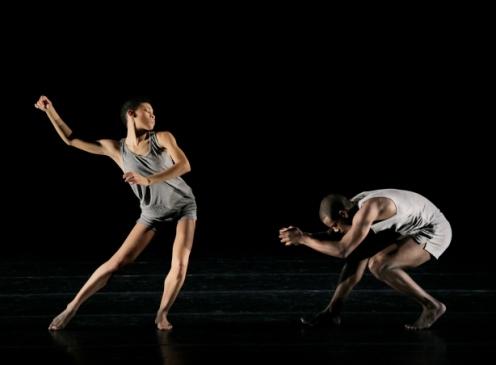 Alvin Ailey American Dance Theater's Ghrai DeVore and Kiven J. Boyd in Ohad Naharin s Minus 16. Photo by Paul Kolnik