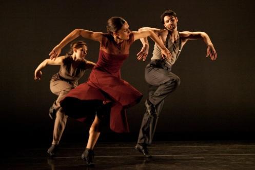 A STRAY'S LULLABY Dancers:Christina Ilisije, Elena D'Amario & Jason Macdonald, Photo by Krista Bonura
