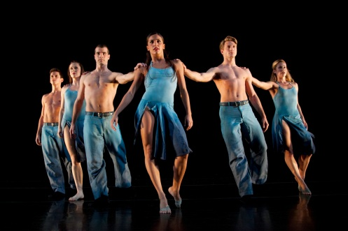 ROUND MY WORLD Dancers: Ian Spring, Melissa Ullom, Steven Vaughn, Elena D'Amario, Eric Bourne, Sarah Braverman, Photo by Krista Bonura