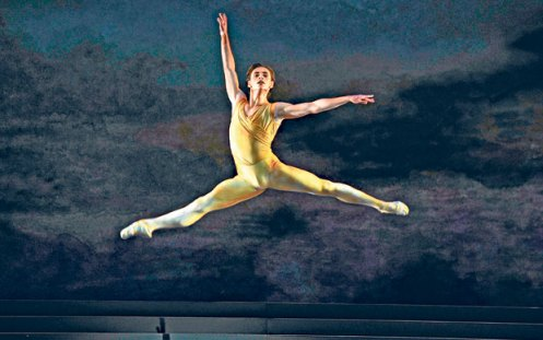 Sergei Polunin, pictured in 'Rhapsody' at the Royal Opera House  Photo Robbie Jack