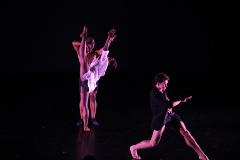 Michaela DePrince, Skyler Maxey-Wert & Jason Ambrose, in Jason Ambrose's Leave-Taking for the Second Annual Dance Against Cancer. Photo by Erin Baiano
