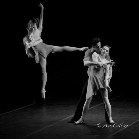 Tom Gold Dancers , Stephen Hanna, Amanda Hankes, Robert Fairchild and Tiler Peck. Photo by Ari Collier