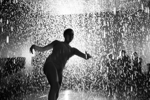 Wayne McGregor | Random Dance in Random International Rain Room at Barbican Centre, London. Photo: Sidd Khajuria