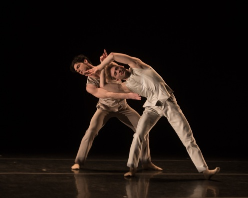"Jason Macdonald & Eric Bourne in ""Black Flowers"" Photo by Eric Bandiero"