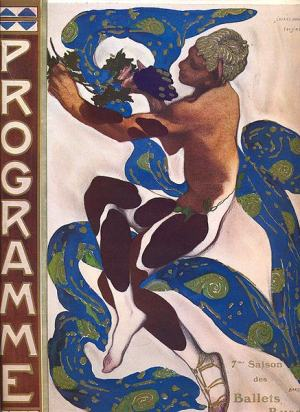Leon Bakst's illustration of Nijinsky as the faun on the cover of the programme for the 1912 season of the Ballet Russes