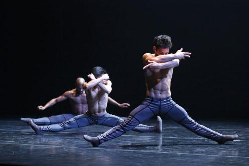 Complexions Contemporary Ballet's Edgar Anido in the foreground. Photo by Bill Hebert