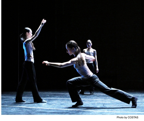 """Xiaochuan Xie, Mariya Dashkina Maddux & Ying Xin in Luca Veggetti's """"From the Grammar of Dreams"""". Photo by Costas"""