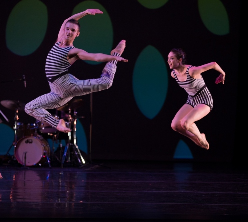 Juilliard Dances Repertory Troy Herring & Daphne Fernberger in Murray Louis' Four Brubeck Pieces (Opus 104). Photo by Rosalie O'Connor