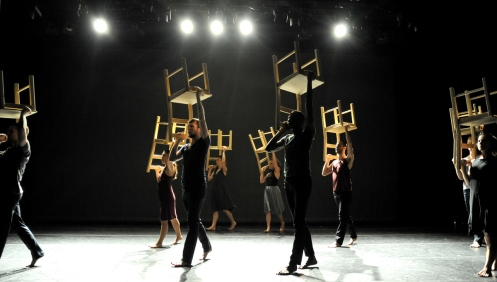 Steps Repertory Ensemble in Zvi Gotheiner's Chairs. Photo: Eduardo Patino, NYC