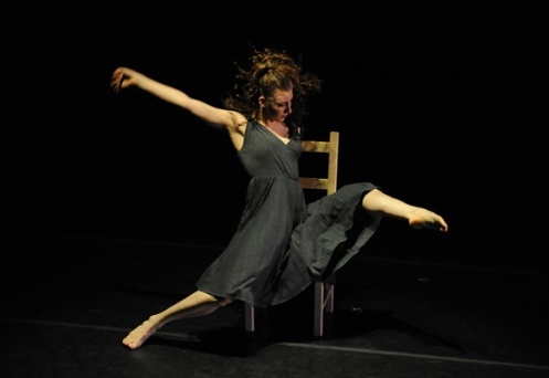 Steps Repertory Ensemble's Katherine Sprudzs in Zvi Gotheiner's Chair. Photo: Eduardo Patino, NYC