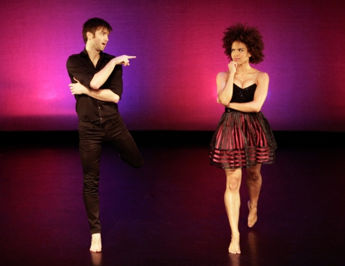 "Kristina Hanna & Aaron Carr in ""Love Songs"" Dance Against Cancer.  Photo: Erin Baiano"