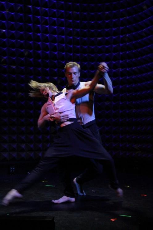 Gina Ianni & Kile Hotchkiss in Somewhere Familiar Melodies: Take Dance at Joe's Pub. Photo: Phyllis McCabe