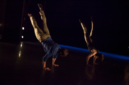 Alex Olivieri & Joseph Harris in Calen J. Kurka's If Swallow This. Darkness. Photo by K. Bonura Photography