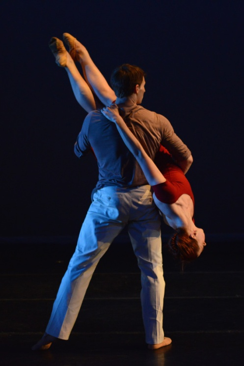 Lydia Johnson Dance's Kerry Shea & Guest Artist Carlos Lopes in Lydia Johnson's Night of the Flying Horses. Photo by Nir Arieli