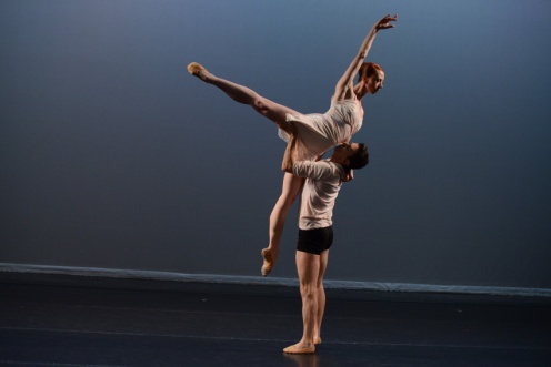 Lydia Johnson Dance's Kerry Shea & Guest Artist Carlos Lopez in Lydia Johnson's Night and Dreams. Photo by Nir Arieli