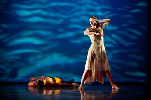 "Rioult Dance New York's Charis Haines in Pascal Rioult's ""On Distant Shores"" Photo by Sofia Negron"