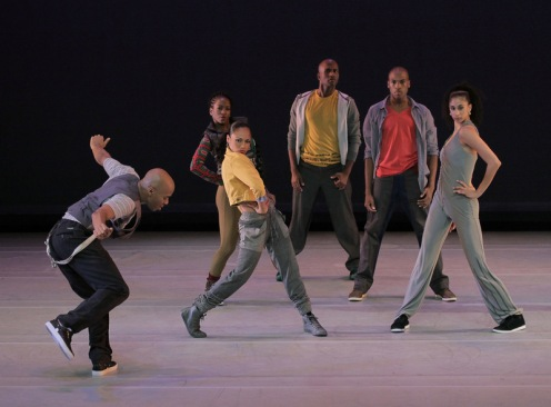 Matthew Rushing & Company in HOME, Choreography by Rennie Harris  Alvin Ailey American Dance Theater, Credit Photo: Paul Kolnik