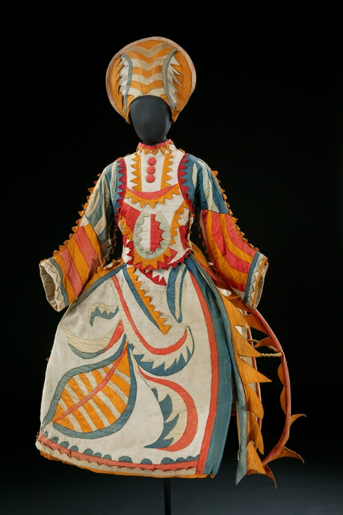 Mikhail Larionov, Russian, 1881–1964, Costume for the Buffoon's Wife from The Tale of the Buffoon, 1921, cane stiffened felt and cotton, V&A, London © Victoria and Albert Museum, London