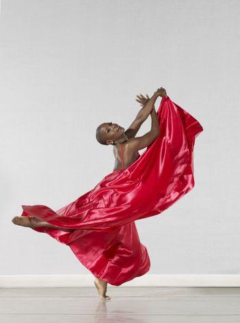Alvin Ailey American Dance Theater's Hope Boykin in Mauro Bignozetti's Festa Barocca. Photo by Steve Vaccariello