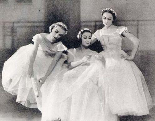 """The three """"Baby Ballerinas"""" in 1936. From left to right: Tatiana Riabouchinska, Tamara Toumanova, Irina Baronova Photo: Handout"""
