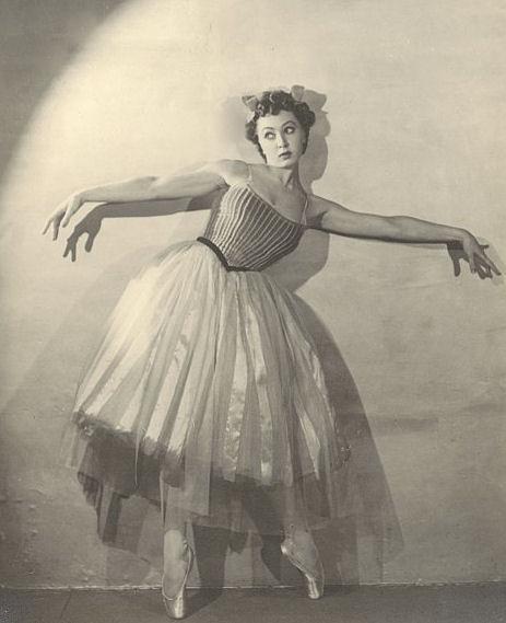 Russian ballerina Irina Baronova in La concurrence, c. 1937