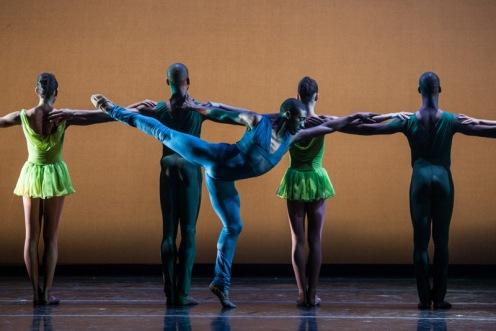 "Da'Von Doane corps de ballet of Dance & Theater of Harlem in Robert Garland's ""Gloria""; photo by Matthew  Murphy"