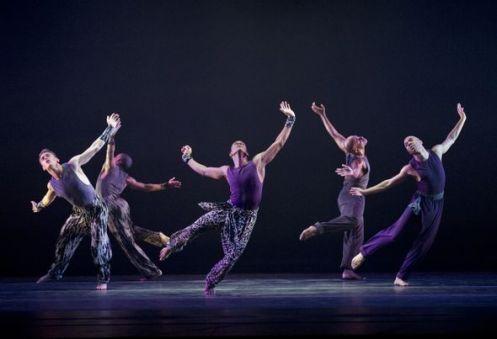 Alvin Ailey American Dance Theater in Ronald K. Brown's Four Corners.  Photo Paul Kolnik