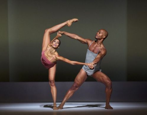 Alvin Ailey American Dance Theater's Alicia Graf Mack and Vernard J. Gilmore in Wayne McGregor's Chroma.  Photo by Paul Kolnik