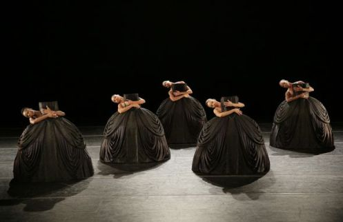 Alvin Ailey American Dance Theater in Jirí Kylián's Petite Mort. Photo by Paul Kolnik