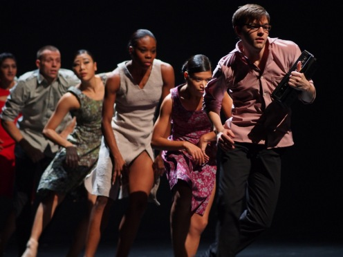 "Cedar Lake Contemporary Ballet in Johan Inger's ""Rain Dogs""; Photo by Jim Stott. Courtesy of Cedar Lake, Inc."