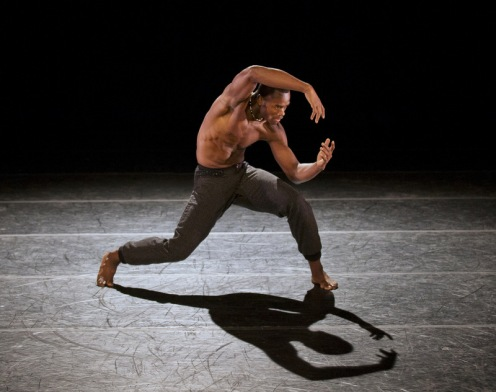 Alvin Ailey American Dance Theater's Jamar Roberts in Aszure Barton's LIFT.  Photo by Paul Kolnik