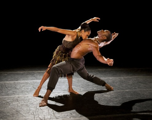 Alvin Ailey American Dance Theater's Linda Celeste Sims and Jamar Roberts in Aszure Barton's LIFT.  Photo by Paul Kolnik