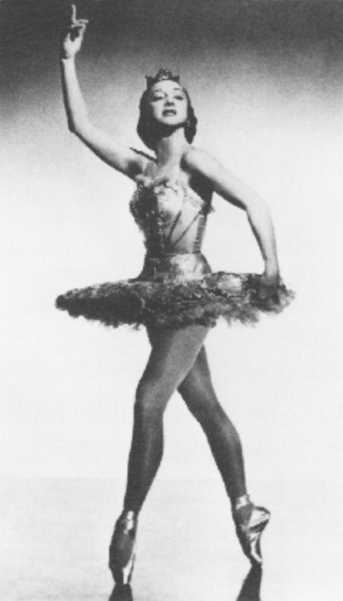 Danilova in a studio shot capturing the glamour and dramatic charisma that made her a beloved star with the Ballet Russe de Monte Carlo.(Photograph by Constantine; from the Collections of the Music Division, Library of Congress.)