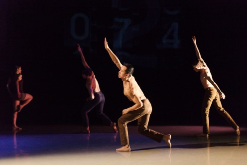 """Left to Right: Leigh Lijoi, Craig Dionne, Yesid Lopez, Doug Baum in Igal Perry's """"Blue"""" 