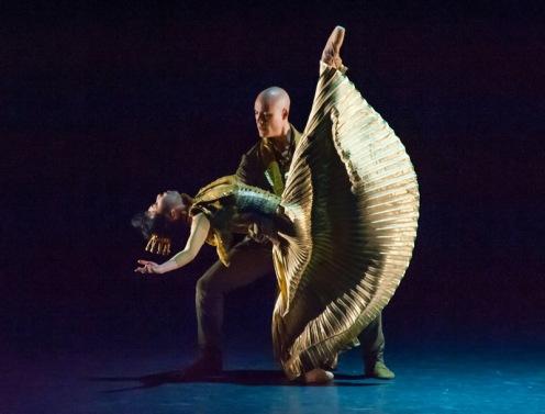 Les Ballets de Monte Carlo's Mimoza Koike & Alvaro Prieto in Christopher-Jean Maillot's LAC (after Swan Lake). Photo: Doug Gifford