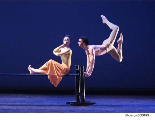 "Martha Graham Dance Company's Ying Xin & Lorenzo Pagano in Martha Graham's ""Maple Leaf Rag"""
