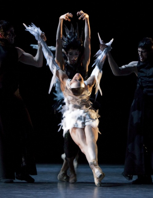 Les Ballets de Monte Carlo's Anja Behrend in Christopher-Jean Maillot's LAC (after Swan Lake). Photo: Alice Blangero