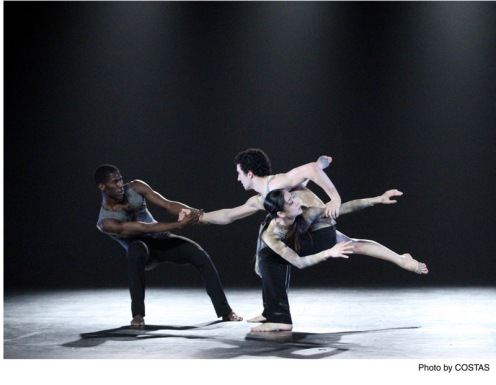 "Martha Graham Dance Company's Lloyd Knight, Lorenzo Pagano, & Ying Xin in Nacho Duato's ""Depak Ine"" Photo: Costas"