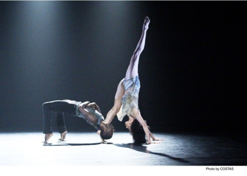 "Martha Graham Dance Company's Lloyd Knight & Natasha Diamond-Walker in Nacho Duato's ""Depak Ine"" Photo: Costas"
