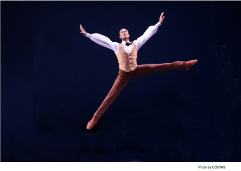 "Martha Graham Dance Company's Abdiel Jacobsen in Martha Graham's ""Appalachian Spring"""