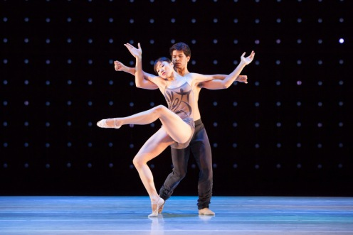 "Yujin Kim & Zachary Tang in Alonzo King's ""Constellation"". Photo by Margo Moritz."