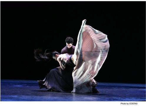 "Martha Graham Dance Company's Lorenzo Pagano & PeiJu Chien-Pott in Andonis Foniadakis's ""Echo""."