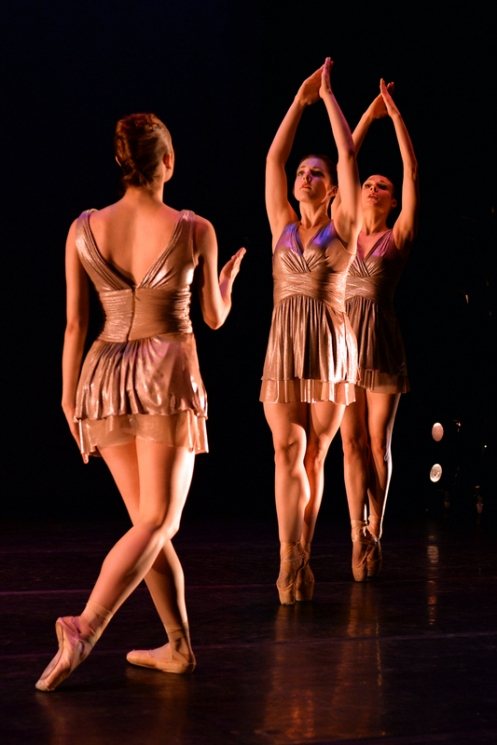 Ballet NY's Katie Gibson, Jessica Lawrence & Amy Saunder in Margot Parson's Dreams: Photo by Eduardo Patino