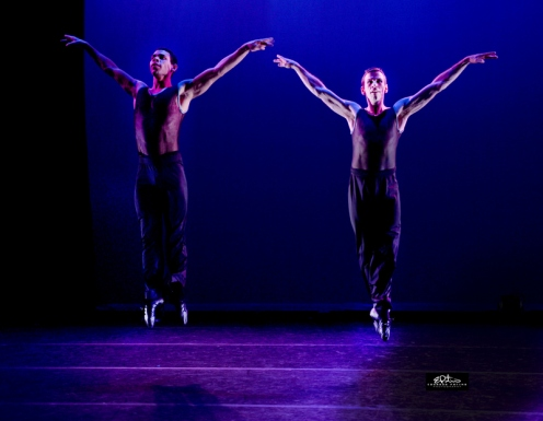 Taurean Green (Left) & Brent Whitney in Ginger Thatcher's ''Urban Study– Excepts'' : Photo by Eduardo Patino
